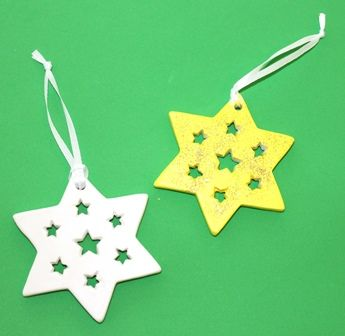 Ceramic stars from Shamrock Craft are perfect for painting and using as decorations this holiday season