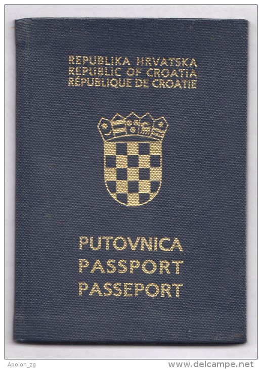 Expired CROATIA passport. Visa of NEW ZEALAND. Look at pics.