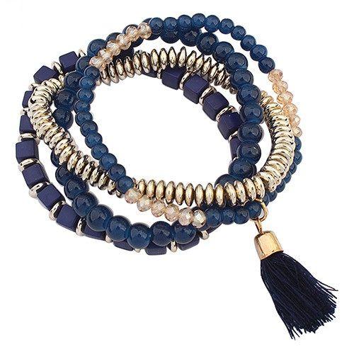Набор браслетов синего цвета