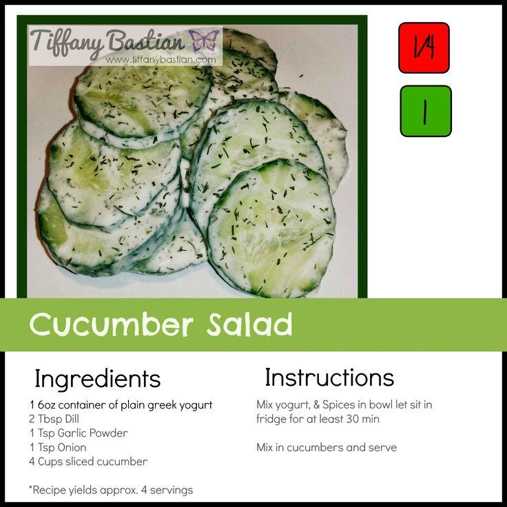 21 Day Fix Cucumber Salald