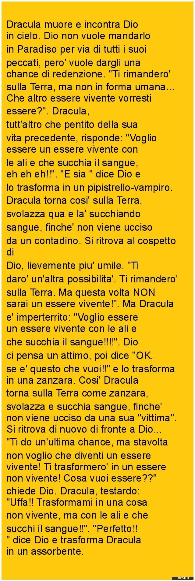 Dracula muore | BESTI.it - immagini divertenti, foto, barzellette, video