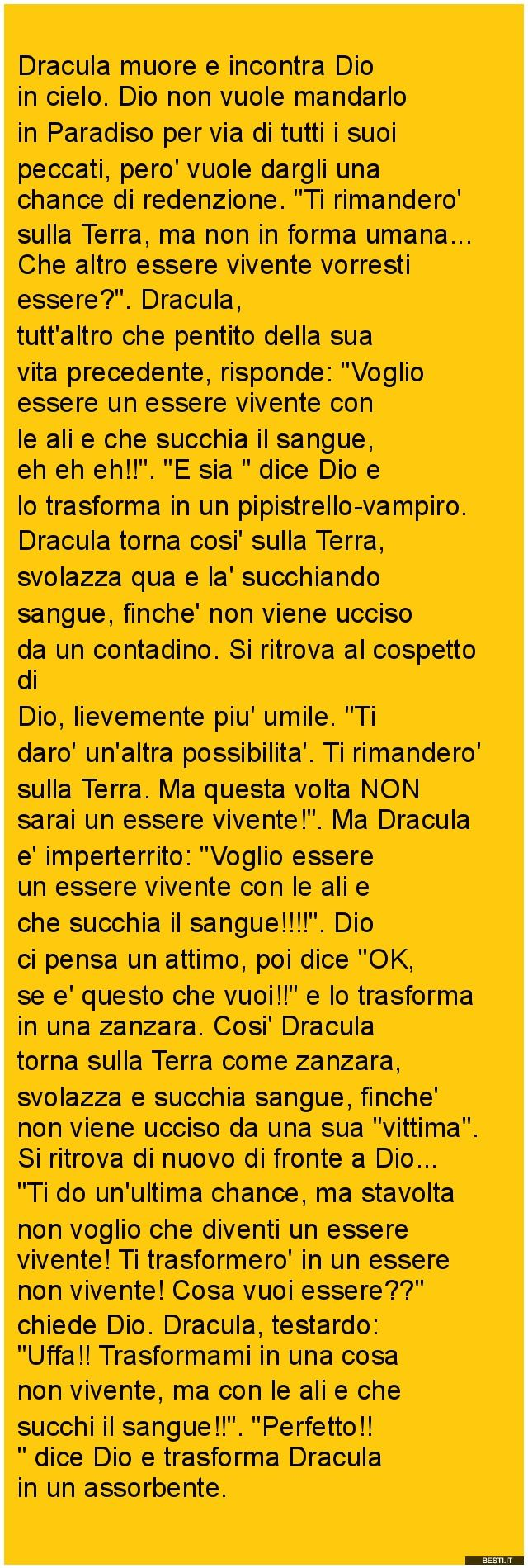 Dracula muore | BESTI.it - immagini divertenti, foto, barzellette, video