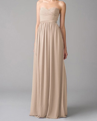 Chloe bridesmaid dresses in beige (and probably blue. Variety!).
