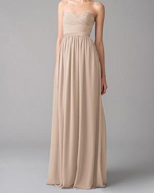 Chloe bridesmaid dresses in beige
