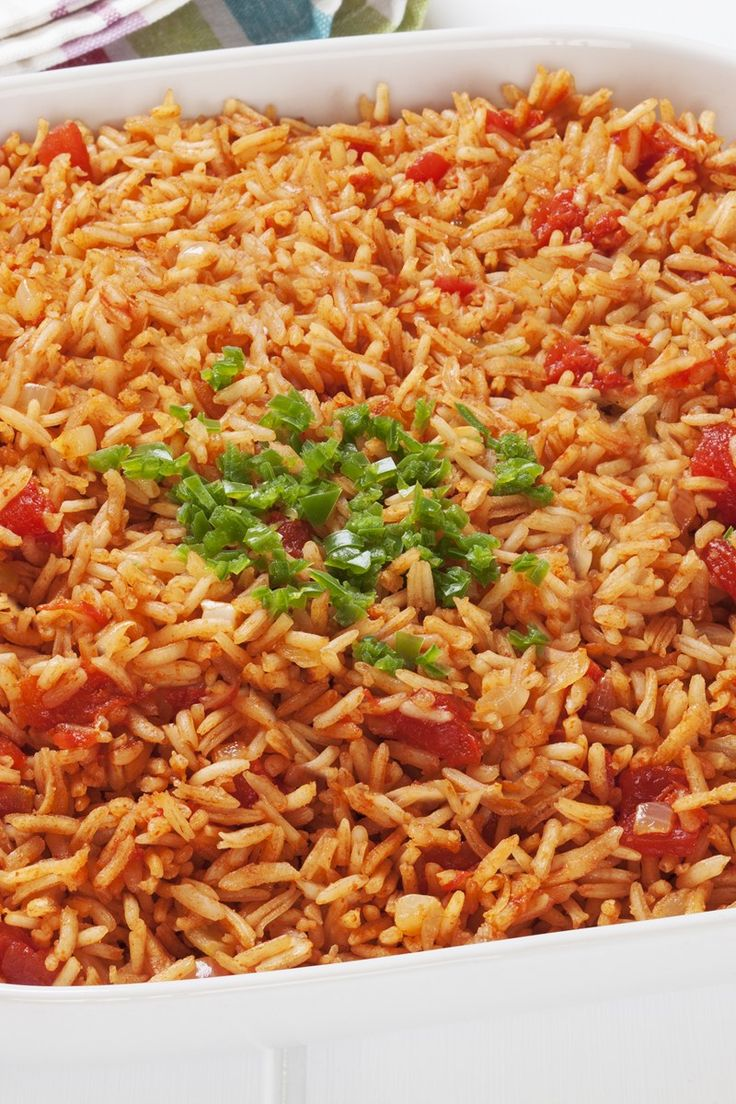 The Best Spanish Rice Recipe - Chicken broth and salsa make this really tasty! - use frylight instead of olive oil for a syn free version