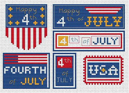 Fourth of July free cross stitch pattern