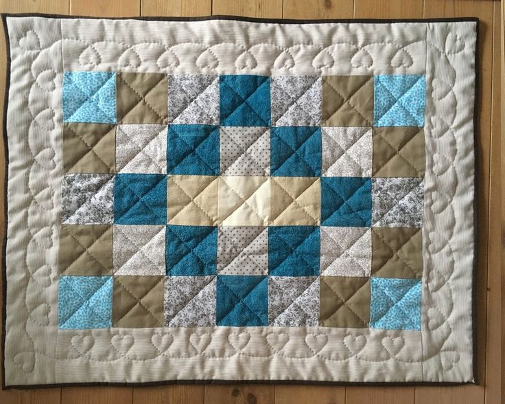 Beautiful quilt for a beautiful Babyboy by SilverfernDK on Etsy