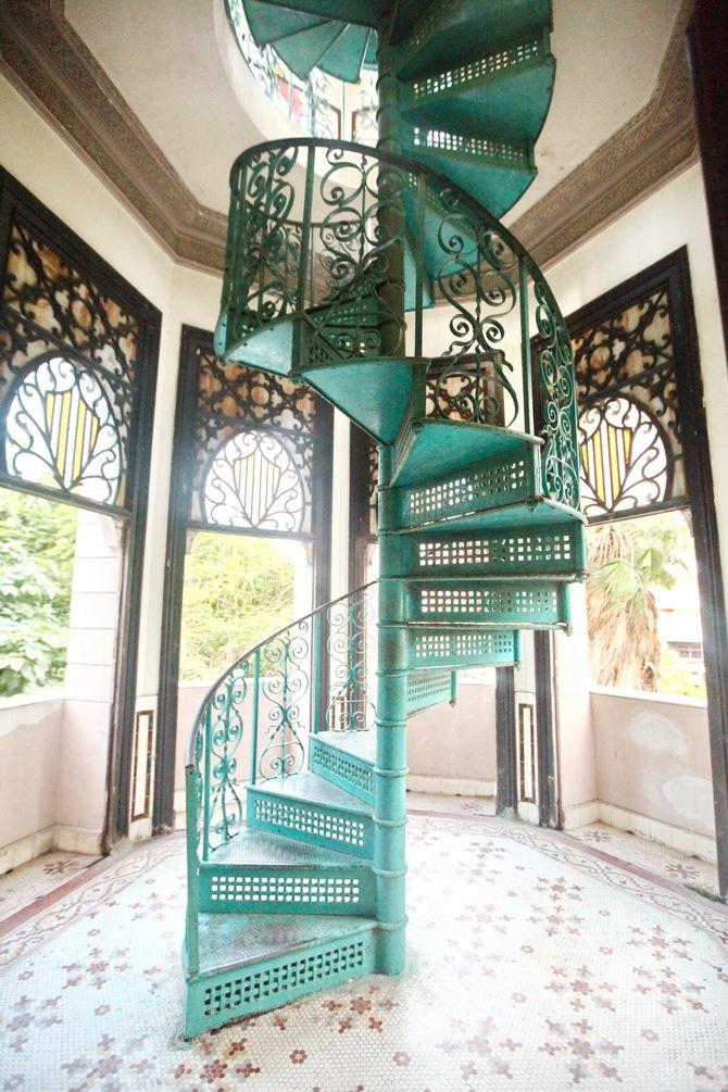 Spiral staircase, Cienfuegos, Cuba. Via www.thecherryblossomgirl.com