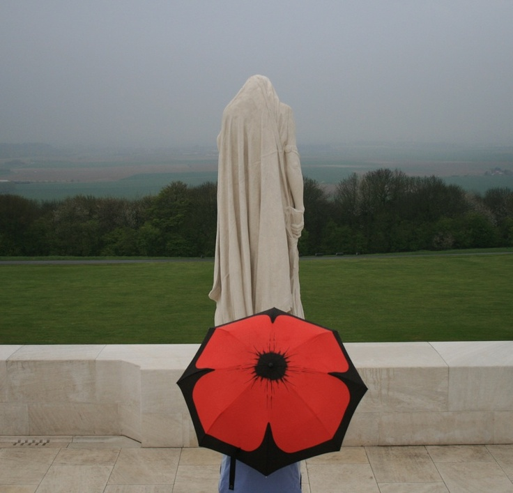 Author Gabriele Wills at the Vimy Ridge Memorial in France. Photo copyright by Melanie Wills.