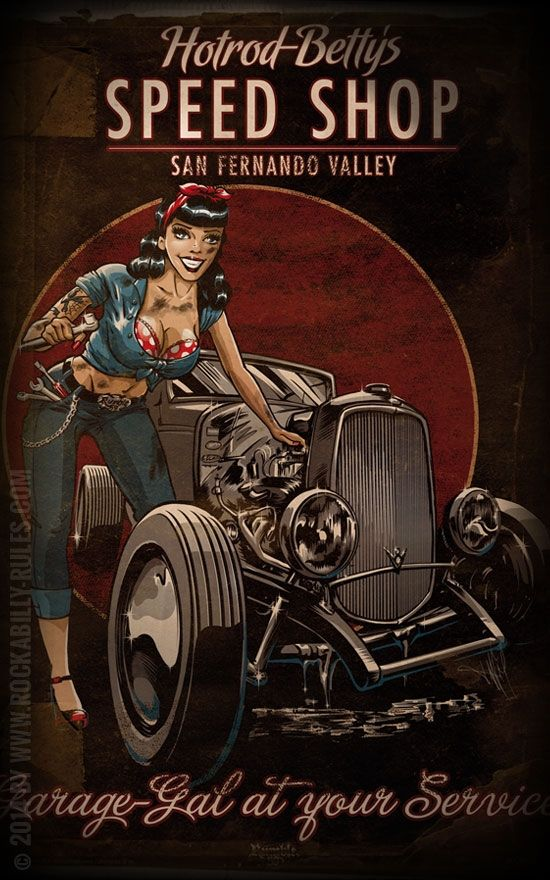 Rumble59 Poster - Hotrod Betty's Speed Shop | for you
