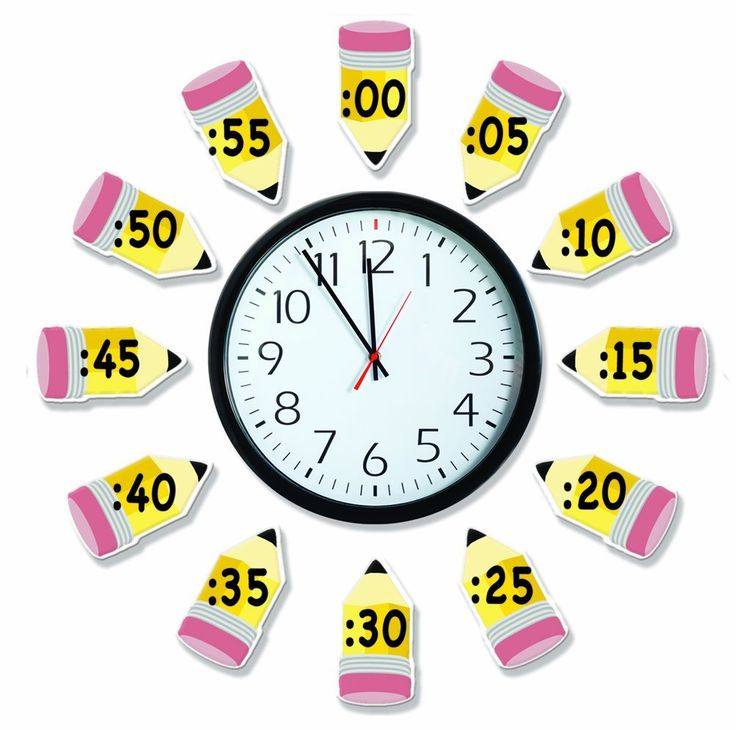 Amazon.com : Eureka Telling Time Bulletin Board Sets (847423) : Themed Classroom Displays And Decoration : Office Products