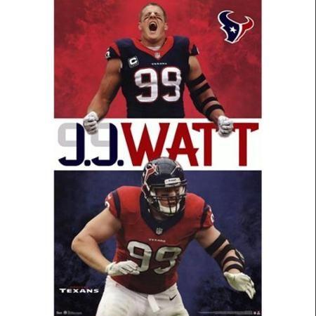 Houstan Texans - JJ Watt 13 Poster Print (22 x 34)