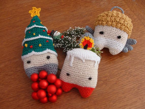 Christmas Decoration Unique CHRISTMAS Xmas от DeVisHappyKnits