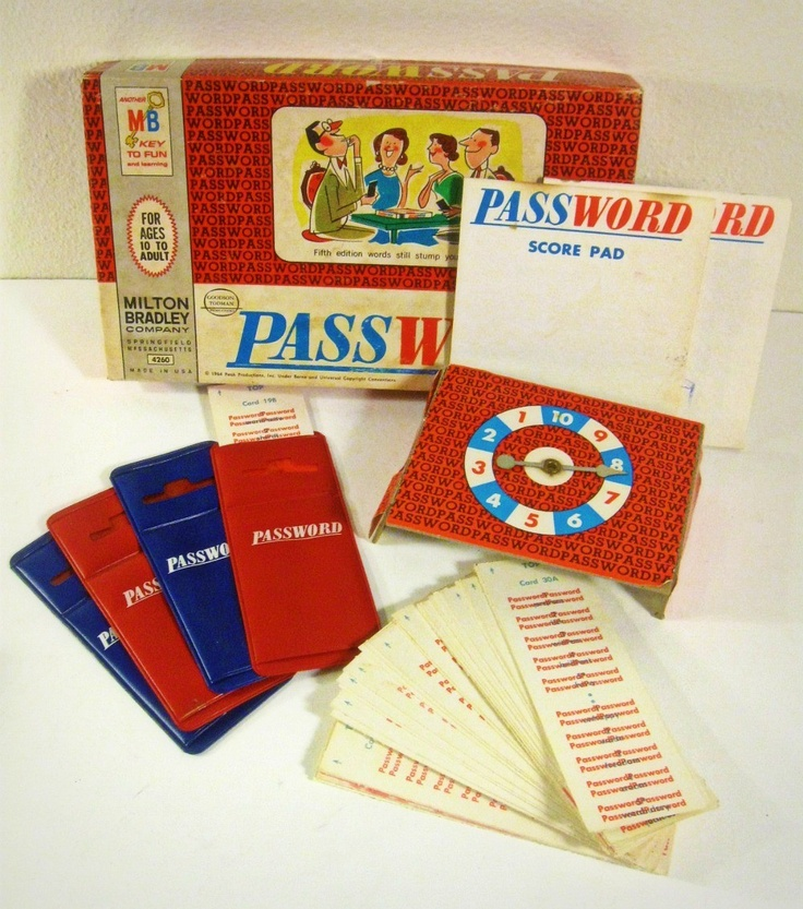 Password game - Milton Bradley - 1960s