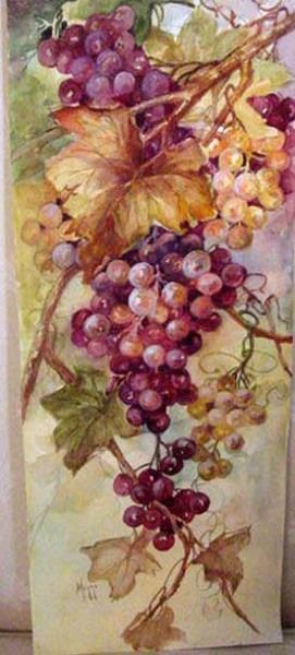 Cherryl Meggs watercolor grapes