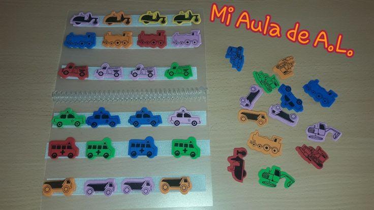 Libro teach para trabajar las series, categorías, vocabulario...