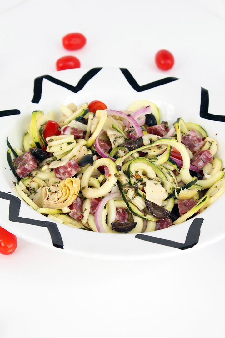 Italian Zucchini Pasta Salad-if vegan use vegan sausage and Daiya provolone cheese