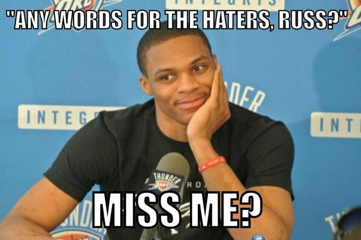 Russell Westbrook #0 OKC Thunder #Thunderup