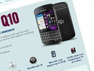 BlackBerry Q10 costs £580, arrives 'end of April' The BlackBerry Q10, first BlackBerry 10 phone with a Qwerty keyboard, costs £580 and is on sale today from all the major networks.