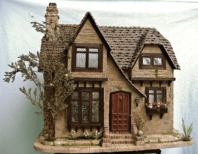 1:12th scale miniature cottage ... by minis on the edge via flickr
