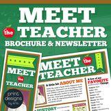 Meet the Teacher Flyer, Newsletter or Brochure. Fully Edit