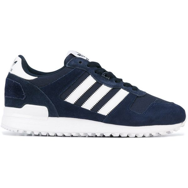 Adidas ZX 700 sneakers ($96) ❤ liked on Polyvore featuring men's fashion, men's shoes, men's sneakers, blue, mens lace up shoes, mens blue sneakers, mens blue shoes, mens leather shoes and mens leather lace up shoes