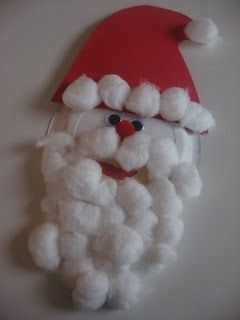 Cool Christmas craftCrafts For Kids, Crafts Ideas, Santa Crafts, Christmas Crafts, Plates Santa, Kids Crafts, Christmas Ideas, Paper Plates, Construction Paper