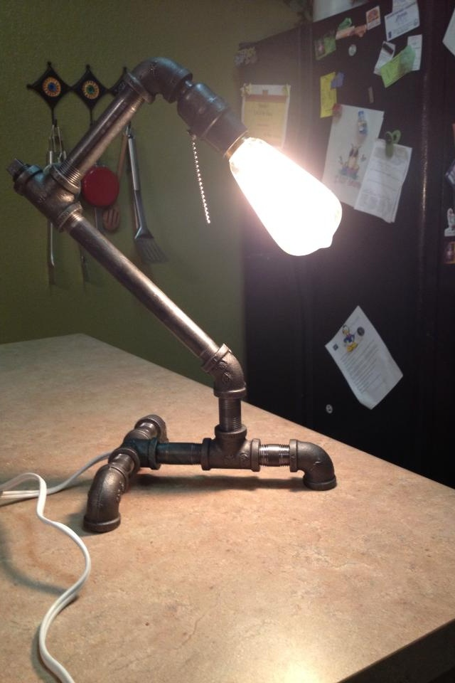 A lamp made out of gas pipe home projects pinterest for Gas pipe lamp