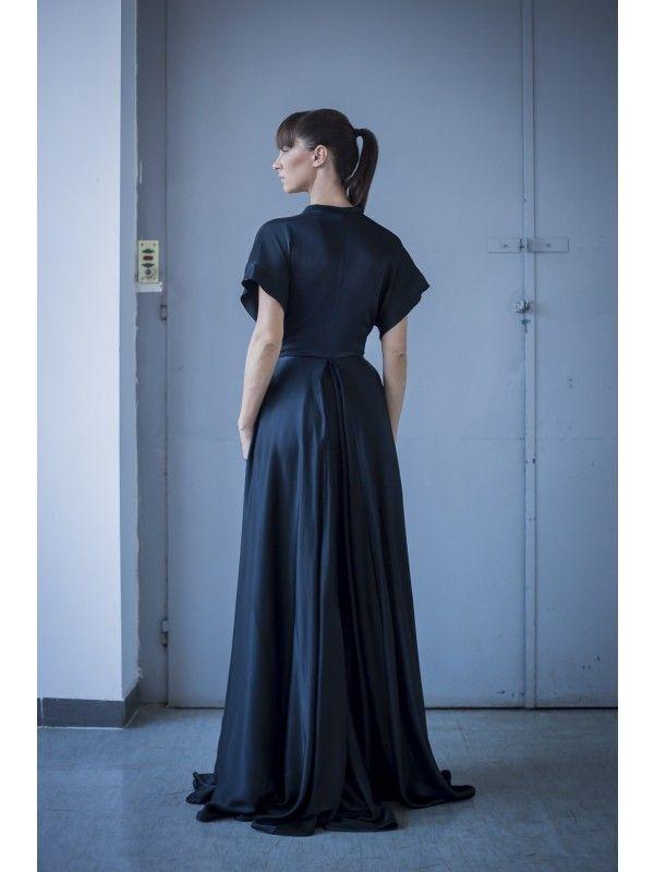 SOFT VISCOSE SATIN MAXI DRESS