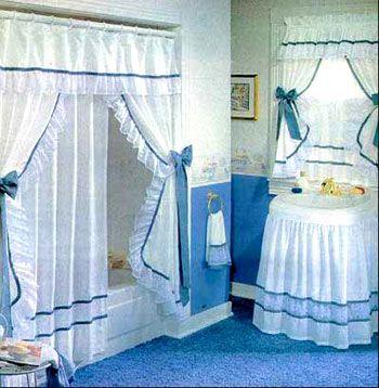 Cortinas elaboradas en tela para el baño