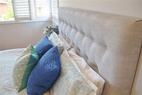Custom made upholstered bedheads.