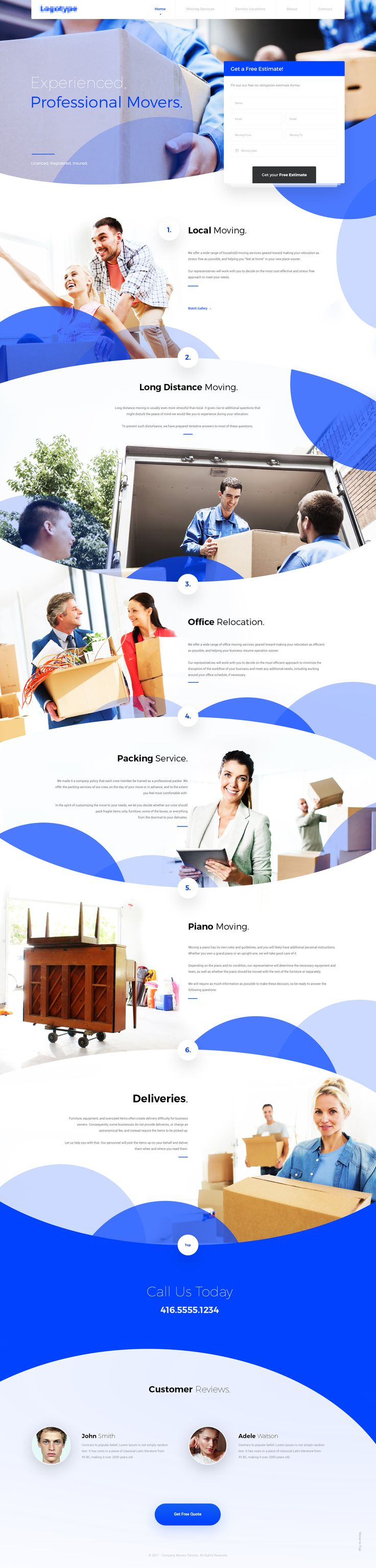 Delivery Company #website #webdesign #layout