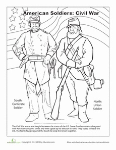 union soldier coloring page - civil war soldier coloring page sketch coloring page