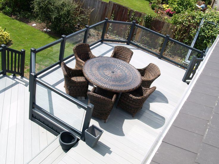 Impressive multi-area, multi-level, UPVC plastic Fensys garden decking installation