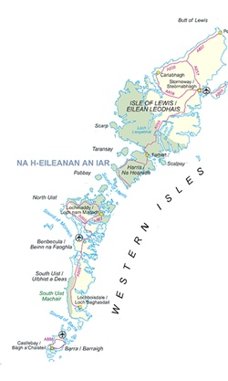 A map of the Western Isles