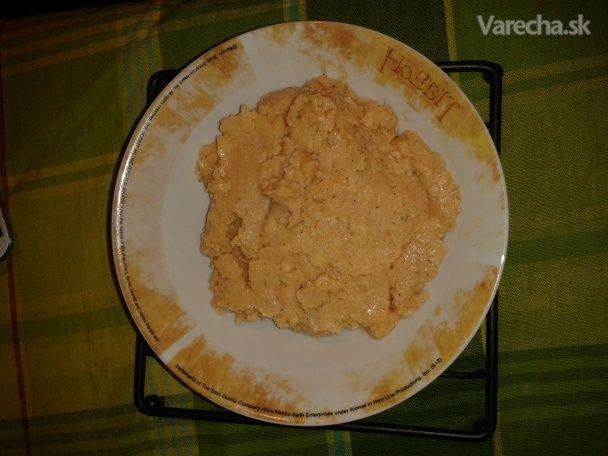 Falošná škvarková nátierka z fazule - Recept
