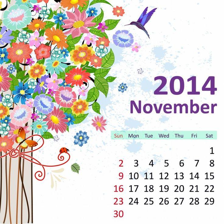 11 November 2014 780x780 2014 Calendar. all Months [12 JPEGs]