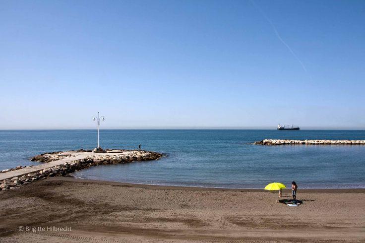 #Málaga #beach / All places of interest you'll find here: http://www.amazon.co.uk/M%C3%A1laga-Capital-Coast-Brigitte-Hilbrecht/dp/1517300533/ref=sr_1_1?s=books&ie=UTF8&qid=1456574193&sr=1-1&keywords=malaga