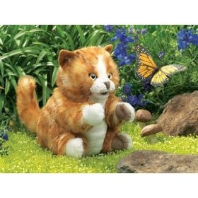Folkmanis Tiger Stage Puppet: Tabby Cats, Folkmanis Tiger, Folkmanis Puppets, Hand Puppets, Orange Tabby Kittens, Hands, Cat Puppet, Kitten Hand, Kitten Puppet