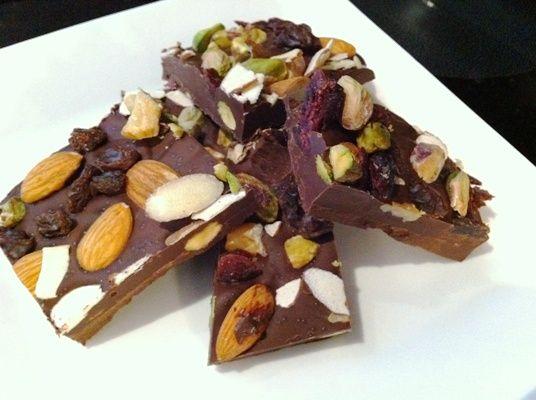 Fruit and Nut Belgian Dark Chocolate Bark