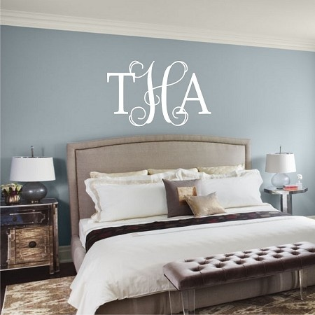 The Best Monogram Above Bed Ideas On Pinterest Rustic Kids - Wall decals above bed