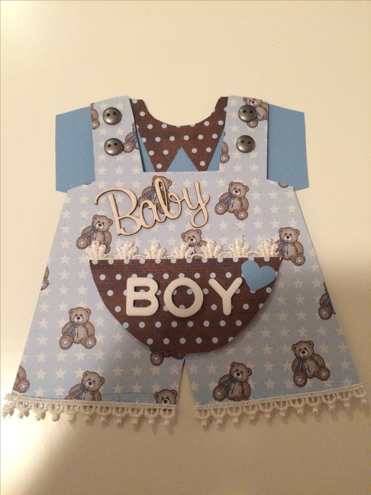 Card for a baby boy