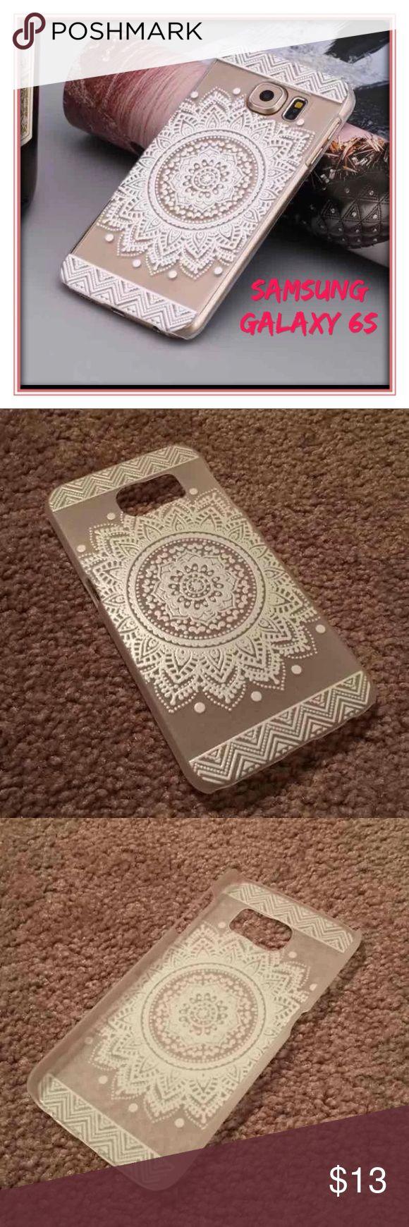 🆕 Samsung Galaxy 6S phone case New!  Samsung Galaxy S6 White Henna Design  Case Accessories Phone Cases