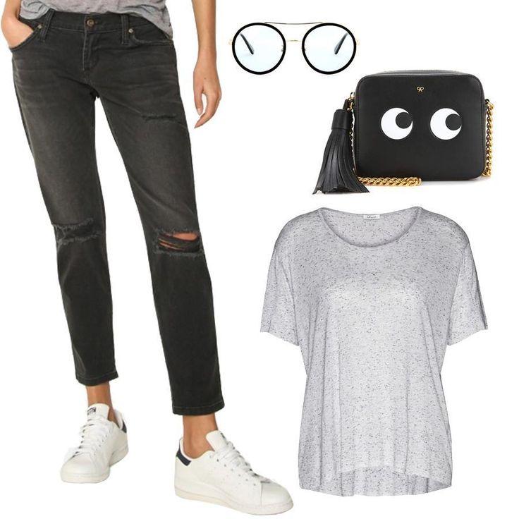 Даём 100% гарантию на комфорт этих бойфрендов James Jeans и футболки iheart. Невероятно удобная парочка! JiST, ул. Саксаганского 65 или jist.ua =#fashion #outfitidea: #stylish #grey #James #jeans & #trendy # tshirt help create #chic #summer #outfit #мода #стиль #тренды #джинсы #футболка #модно #стильно #киев #распродажа #скидка #лето