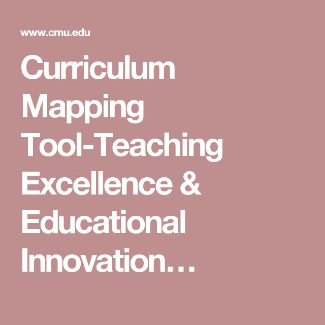 Curriculum Mapping Tool-Teaching Excellence & Educational Innovation…