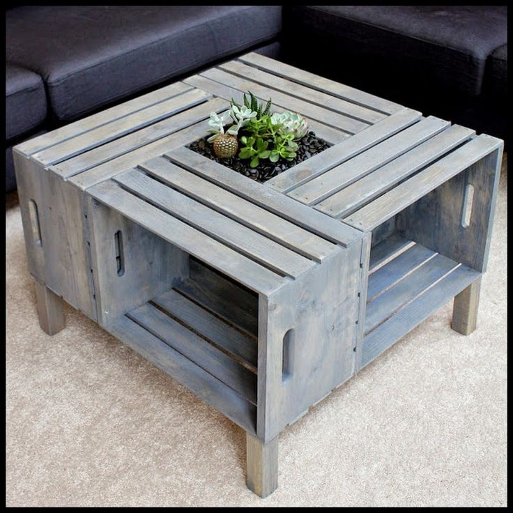 Dollar Store Crafter: Crate Coffee Table