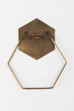 Hexagon Towel Ring - contemporary - towel bars and hooks - Urban Outfitters