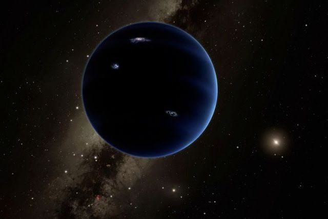 lustrasi Planet Nine yang berukuran seperti Neptunus. Kredit : Caltech/R. Hurt (IPAC)