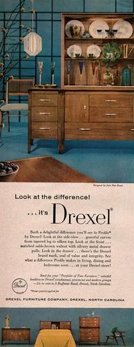 John Van Koert Profile By Drexel Furniture Mid Century Modern 1957 Magazine  Ad | EBay