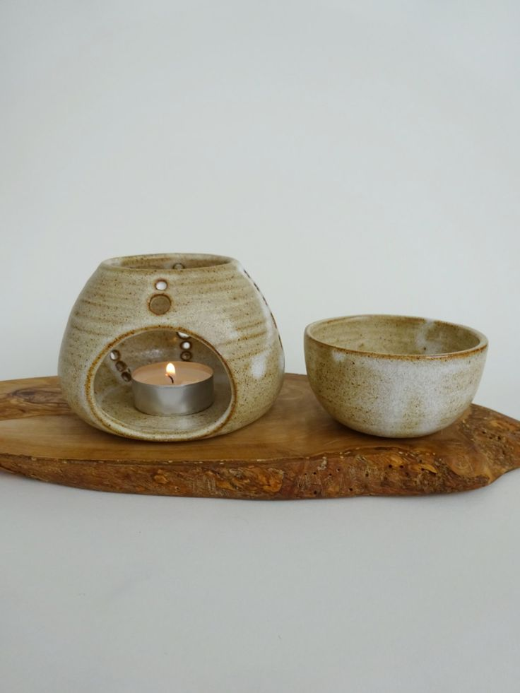 Handmade Ceramic Essential Oil Burner - Rustic Essential Oil Diffuser - Aromatherapy by viCeramics on Etsy